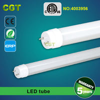 High lumens T8 LED tube light fixtures 1200mm 4FT 18W 20W 5 years warranty CE RoHS ETL approved