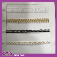 Wholesale 2015 new design wide gold braid lace trim for sewing dresses