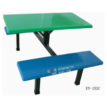 school furniture supplier fiber glass dining table and bench