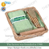 4pcs square willow basket bathroom set&gift set&bath set