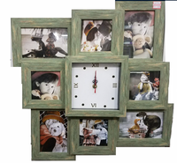 8 openings baby newest funny picture frame love photo frame with clock photo frame