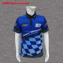 Custom racing crew shirts wholesale motorcycle clothing