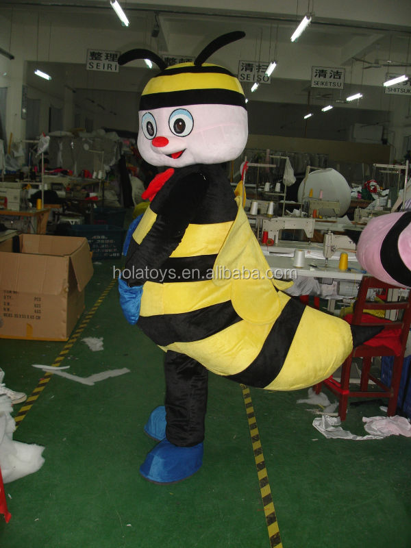 Hola insect mascot costume for adult/ladybug mascot costume for sale