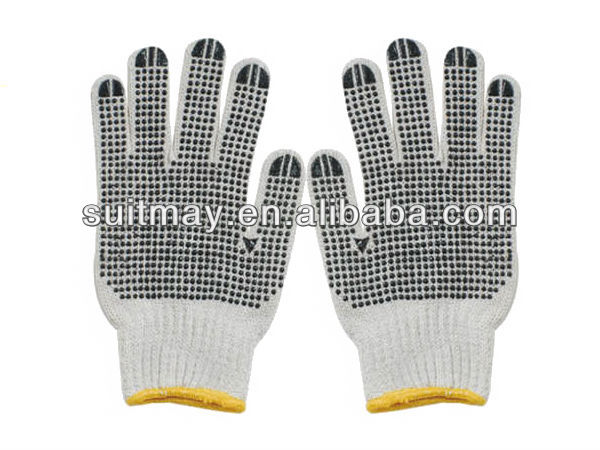 Cotton Glove with PVC Dots