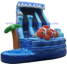 Residential Inflatable Water Slides / Clownfish Inflatable Waterslides