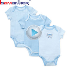 Baby bodysuit 100% organic cotton summer baby clothes newborn romper