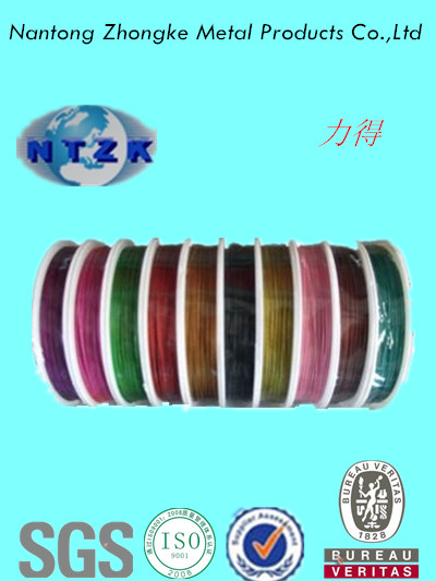 PVC Coated galvanized steel wire rope 6*7+FC,7*7,6*19+FC, Provide free sample