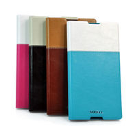 Fashionable Color matching Flip PU Leather Case for Sony I5