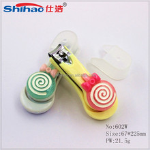 Cute baby many design flower shape decoration plastic nail clipper