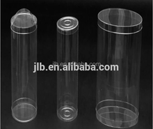 Cylinder packaging clear plastic box with round shape