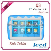 Hot sell 7.0inch Super slim Dual core Child tablet pc Q3