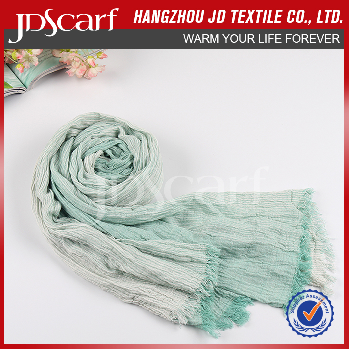 2017 Hot Selling Made In China Fashion Crinkle Scarf