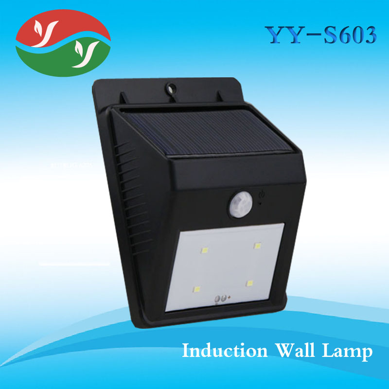 Yard Pole Light LED Solar Power Garden Sensor Wall Lights Lamp