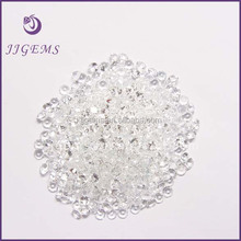 Top Quality 3mm round brilliant cut natural white topaz stone price
