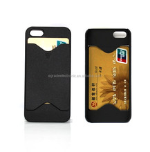 New Plastic Hard Back Case Skin Cover Card Holder Case For iPhone 5 5G