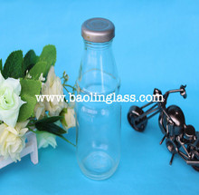 275ml glass milk bottles drinking bottles with lug cap