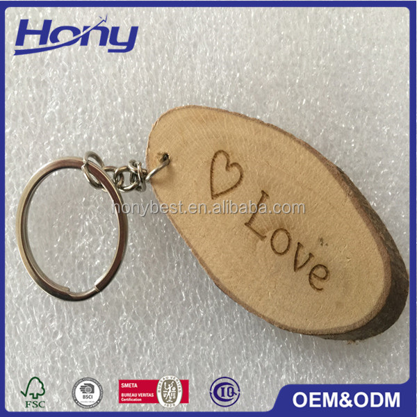 Cheap Chinese Factory Price Wooden Laser Cut Christmas Decoration for Key Chain Rings