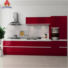 Bomei Custom Apartment One Piece Kitchen Cabinet Pantry Units Lacquer/PVC Kitchen With Countertop
