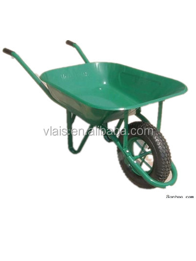 wheel barrow WB6400 for building implement ,High quality green color wheel barrow 130kg for sale