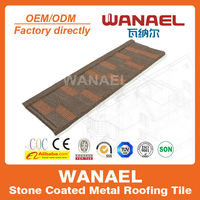 Shingle/Flat Stone coated steel roof tile, new innovation building material