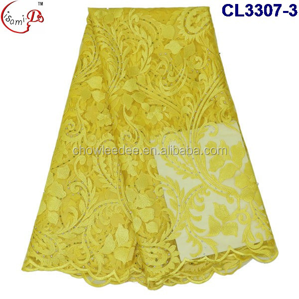 New Arrival Hot Sale Beautiful Embroidery French Lace Yellow African Style Net lace Christmas French Net lace fabric