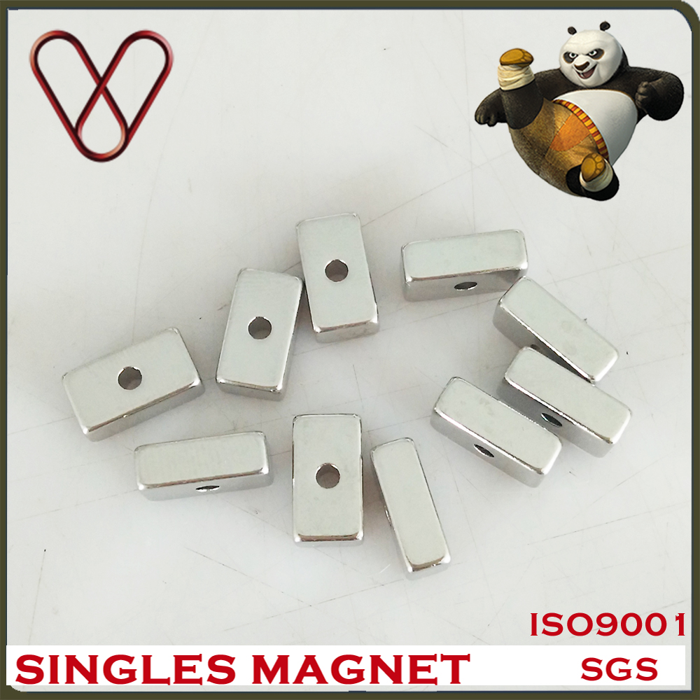 Customized Small block neodymium magnet with hole