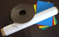 Fridge magnet sheets rolls and strips