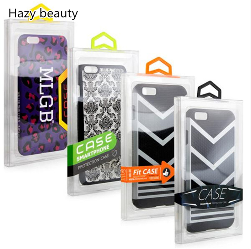 500pcs Fashion Blister PVC Plastic Transparent Clear Retail Packaging Custom Packing Box For iPhone 7 7 <strong>Plus</strong> Mobile Phone Case