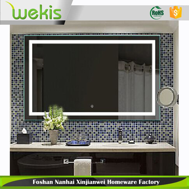 High Quality Touch Screen Illuminated Backlit Led Bathroom Mirror 90024