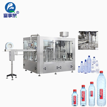 Guangdong automatic linear type mineral water washing filling machine