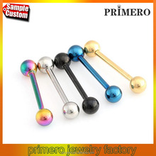 Stainless Steel Lots Mixed Logo Ball Tongue Bars Rings Barbell Piercing