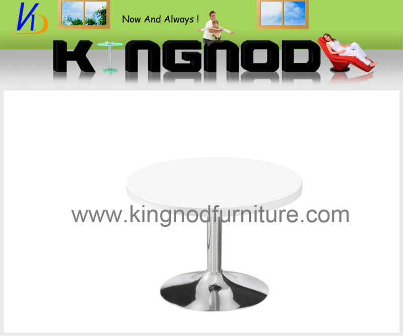 mdf high gloss round side table
