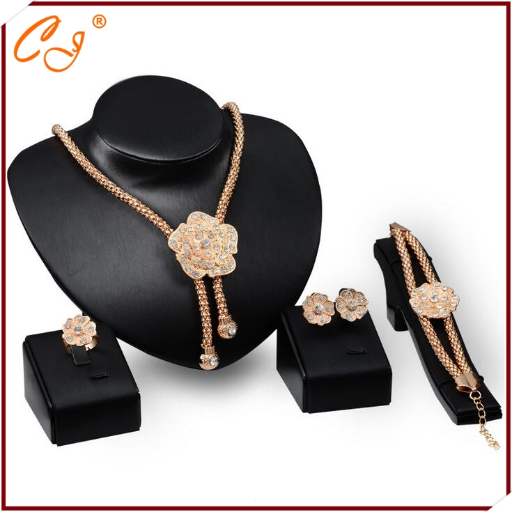 <strong>18</strong> <strong>K</strong> Fashion Women Jewelry Set Distribution Fashion Jewelry Desgin 18K Jewelry Set Fashion