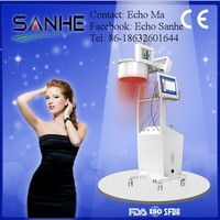 2015 fashion designed hair growth electric stimulator/ 650nm 808nm multi color laser light for hair growth machine