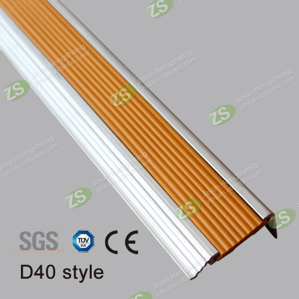 Anti-slip Metal Aluminum Ceramic Tile Edging Stair Nosing
