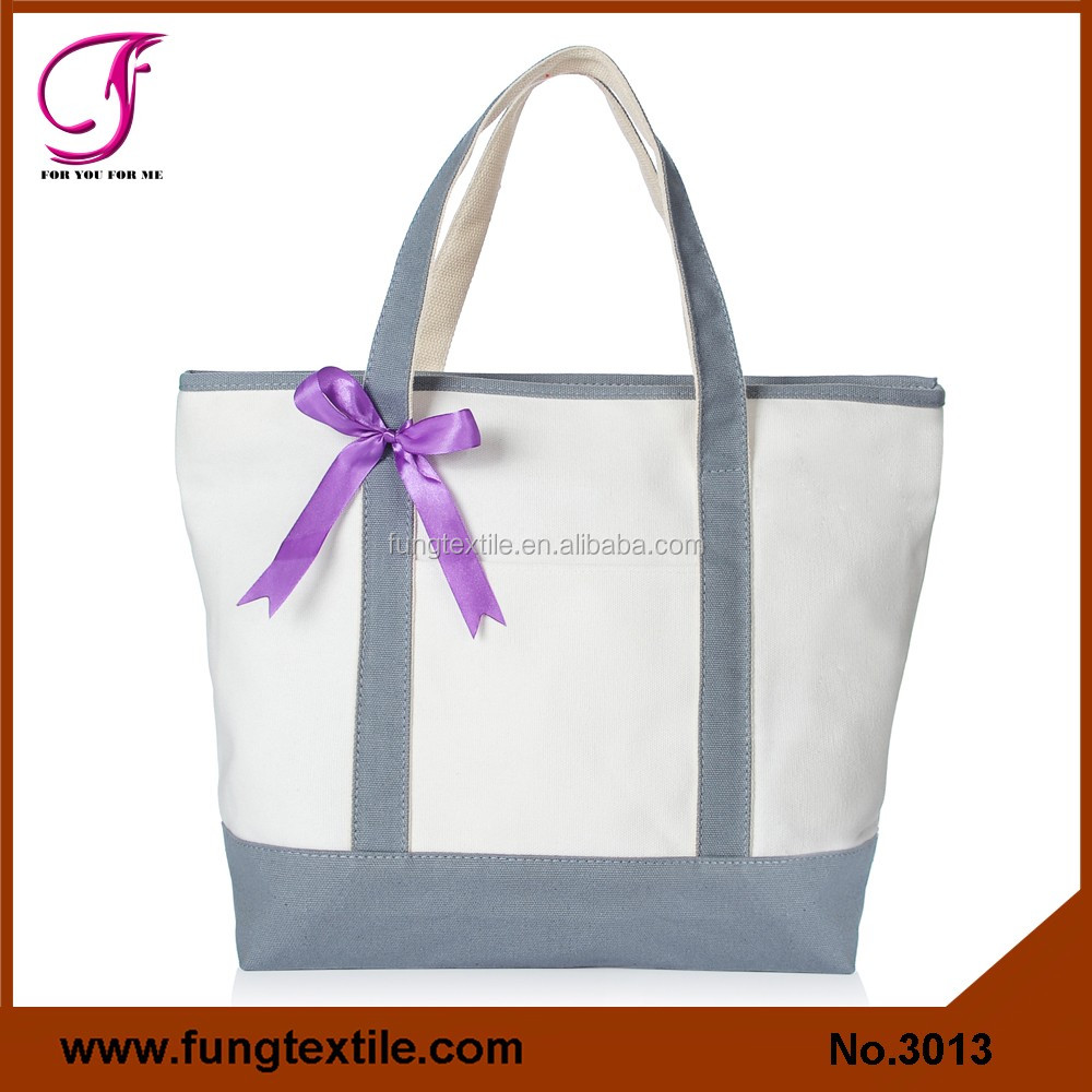 Fung 3013 Solid Canvas Heavy Duty Deluxe Tote Bag with Outer Pocket