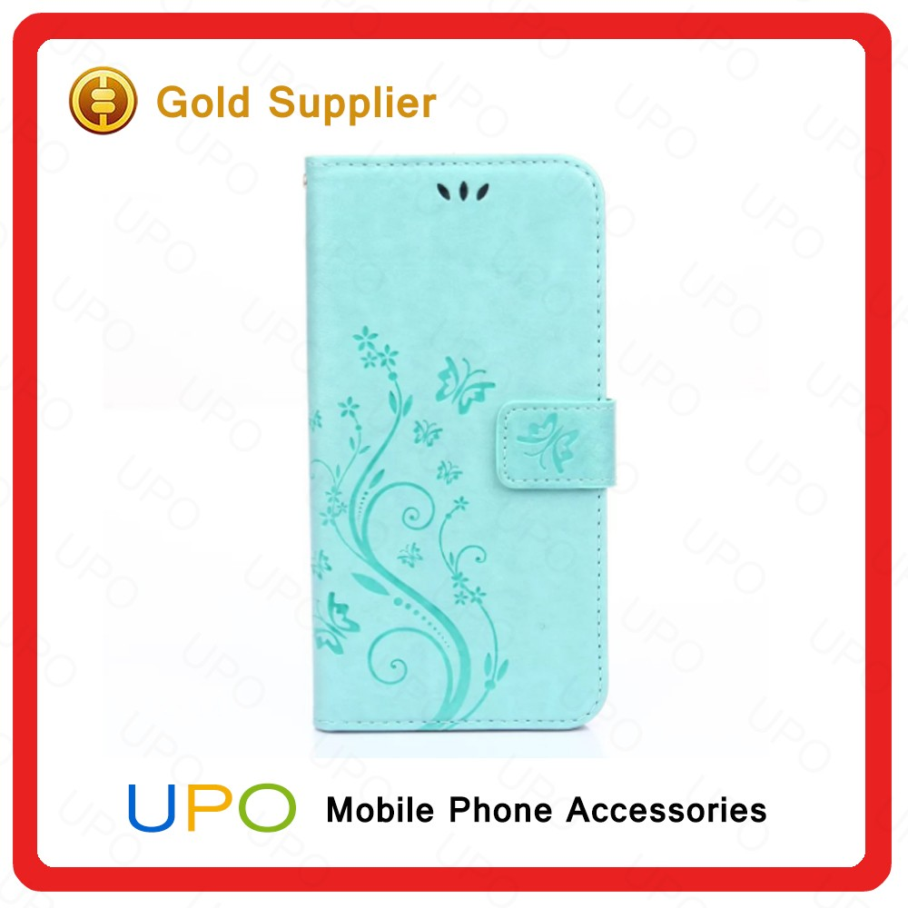 [UPO] Hot Selling Laser Engraving Cell Phone Case Flip Wallet Leather Phone Case for iPhone 7 with card slot