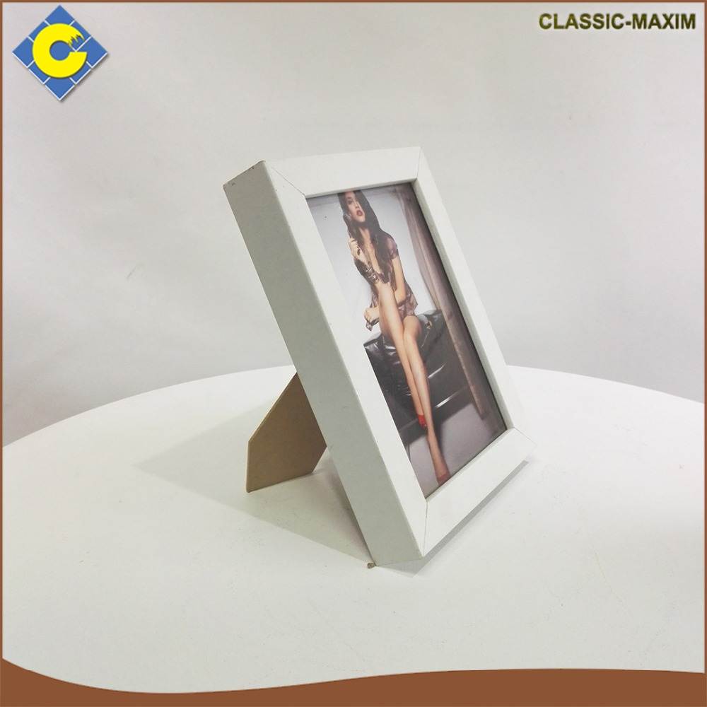 Hot sale thick simple sexy girl adult square white picture photo frame