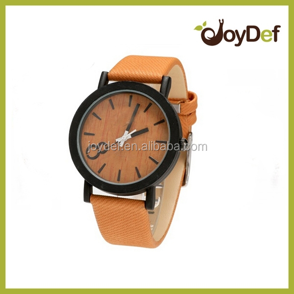 Top Quality Luxury Bamboo Wood Watch with Cow Leahter Strap Quartz Analog Men Wooden Wristwatch Clock