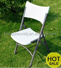 High quality lightweight easy carry blow mold plastic folding camping dinning chair(HQ-X53)