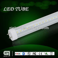 Bi-Pin rotatable base warm white transparent PC cover 2ft 4ft 8ft 8w to 40w 4 feet dimmable led t8 tube fluorescent light