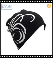 New Products Fashion Mulit color Winter Ski Hats polar cotton beanie hat with printed