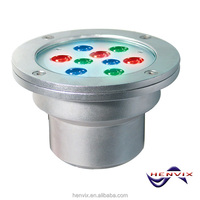12V RGB swimming pool led underwater light, 9w inground pool lights