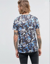 Sublimation Custom Printing mens wear 2016 t shirts With Dark Floral Printing