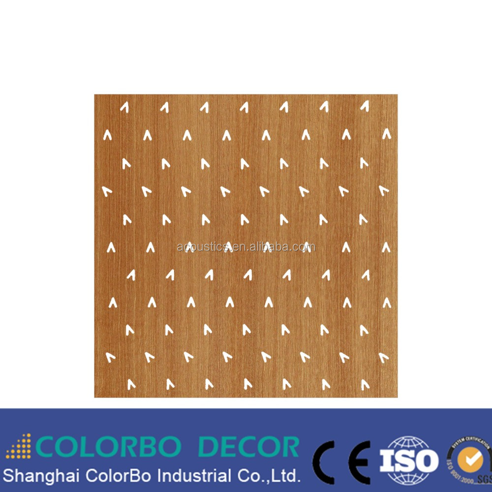Micro Perforated Acoustic Wooden Panel, Noise Reduction MDF Board