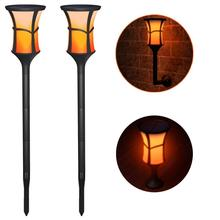 Solar Torch Lights Waterproof Flickering Flame Solar Torches Dancing Flames Landscape Decoration Lighting Dusk to Dawn