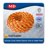 Fire resistant copper stranded RVS 2*1mm wire