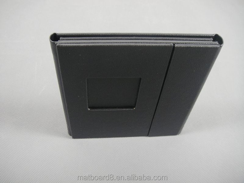 leather wallet size cd storage cardboard box wedding case wholesale dvd case