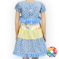 Summer designer girls short Sleeve Leisure Vacation Patterning Formal Long Skirts For Girls