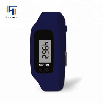 NEW Silicone Wristband Pedometer Watch